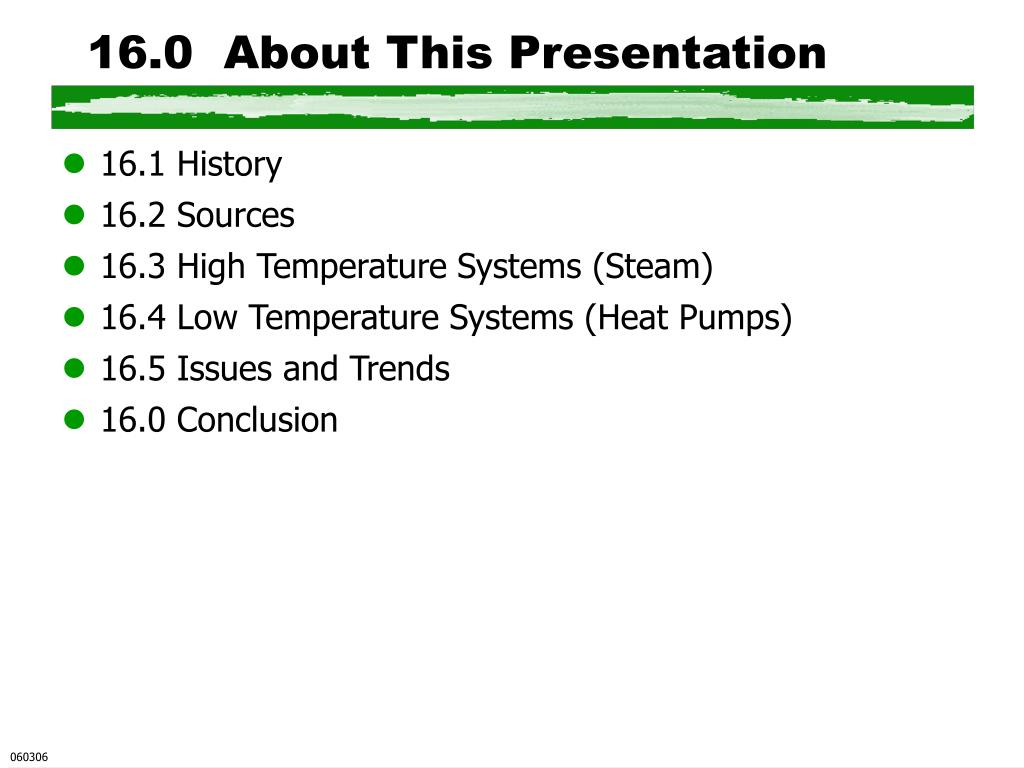 16.0  About This Presentation