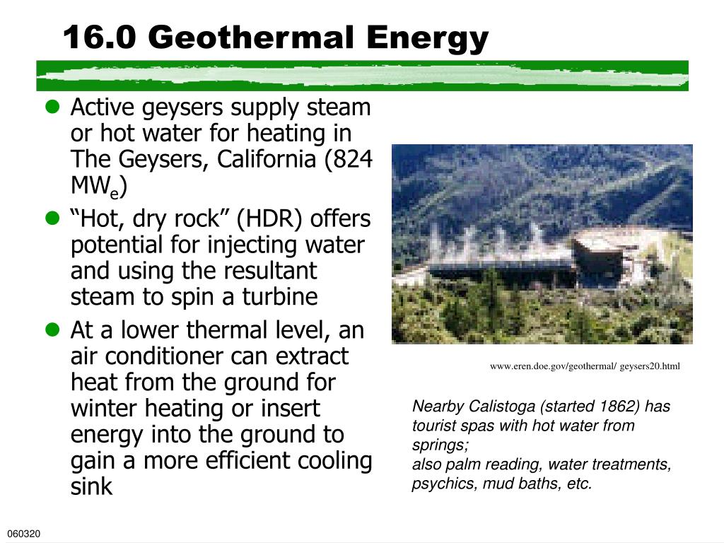 16.0 Geothermal Energy