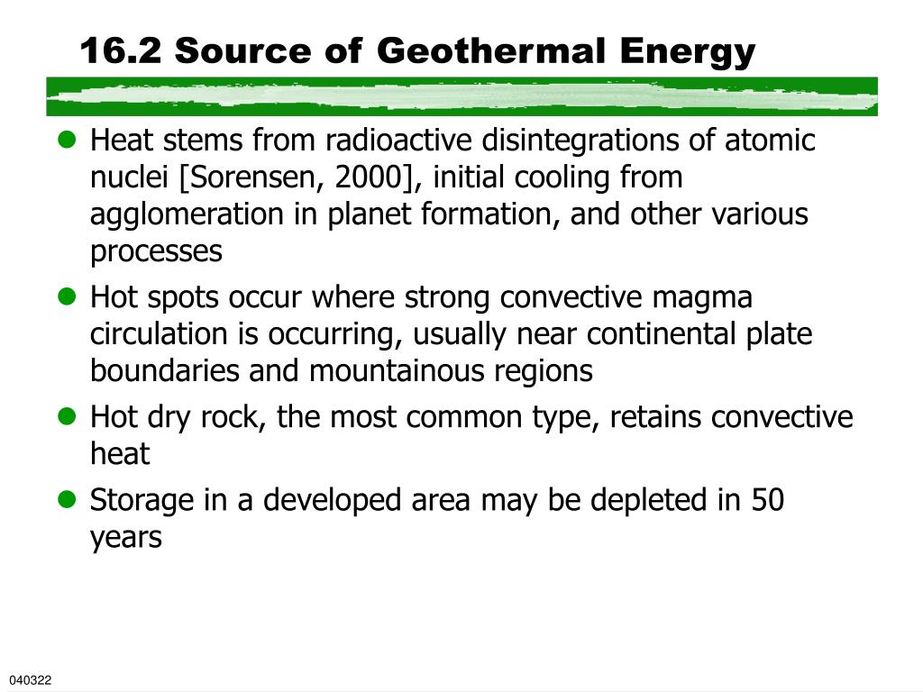 16.2 Source of Geothermal Energy