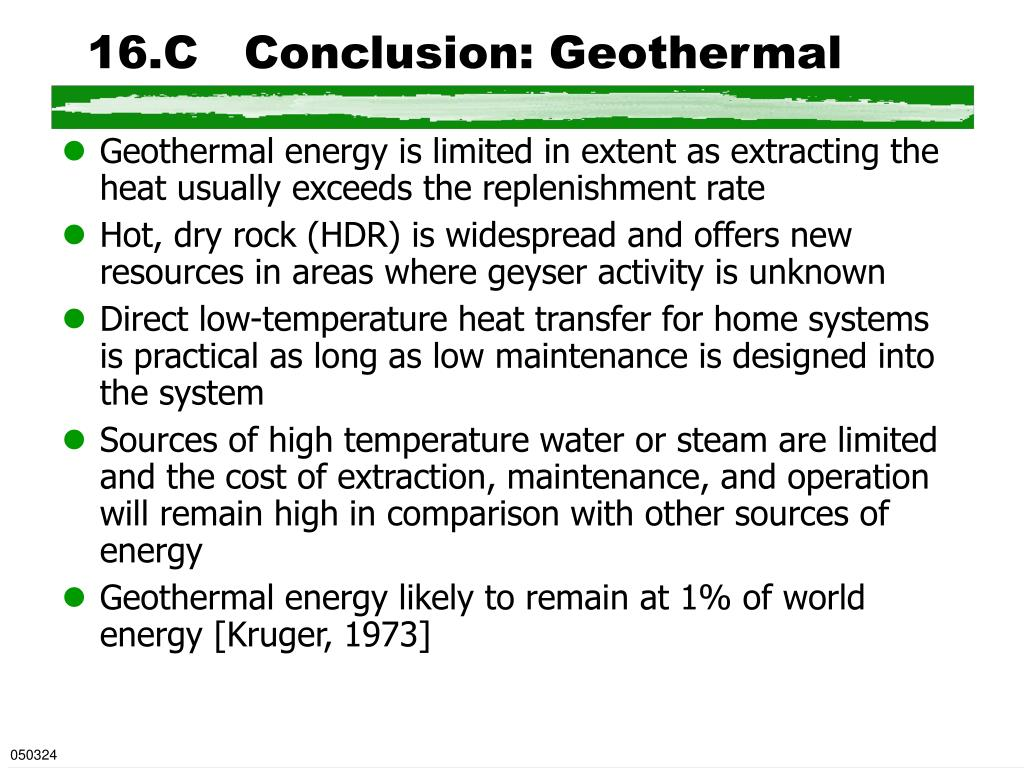16.C   Conclusion: Geothermal