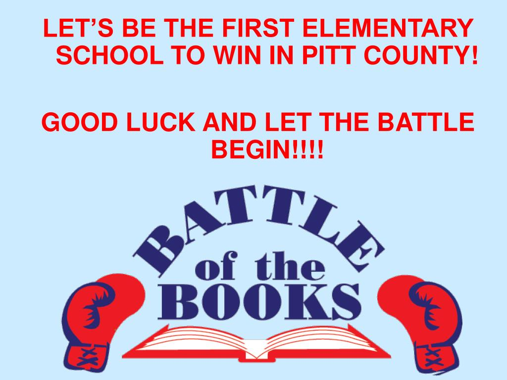 LET'S BE THE FIRST ELEMENTARY SCHOOL TO WIN IN PITT COUNTY!