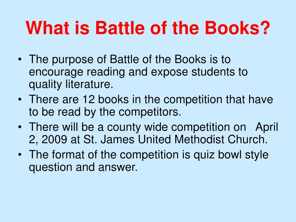 What is Battle of the Books?