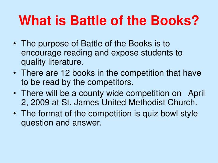 What is battle of the books