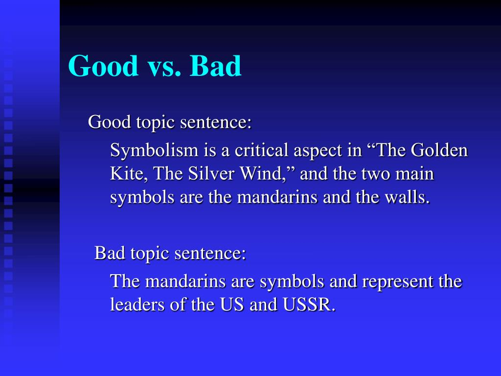 good vs bad thesis statement Class and not knowing what to say, this script should provide a useful  good  thesis statements will typically have the following characteristics:  students find  it extremely helpful to discuss what is bad about some sample thesis statements.