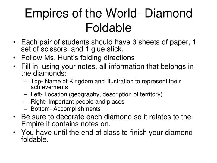 Empires of the World- Diamond Foldable