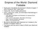 empires of the world diamond foldable