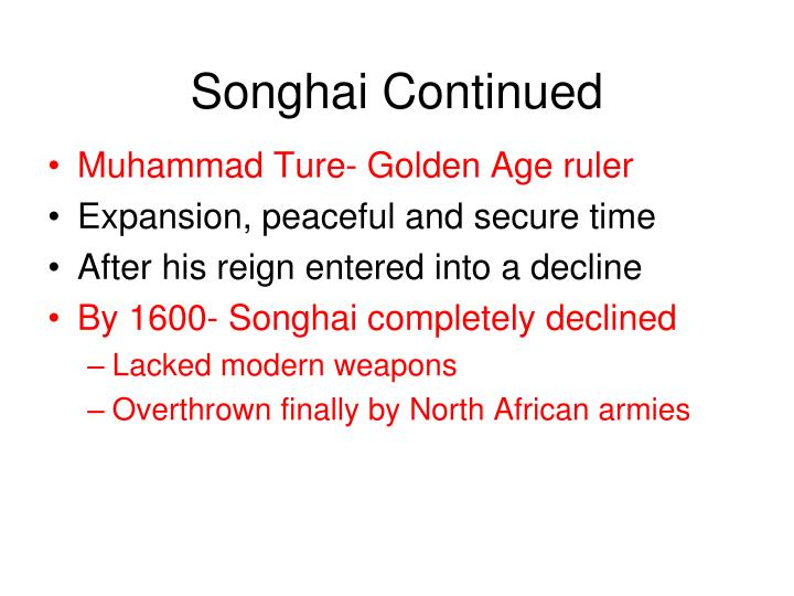 Songhai Continued