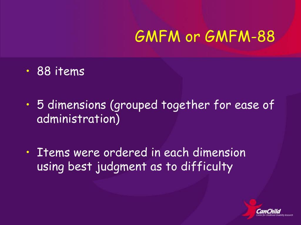 GMFM or GMFM-88