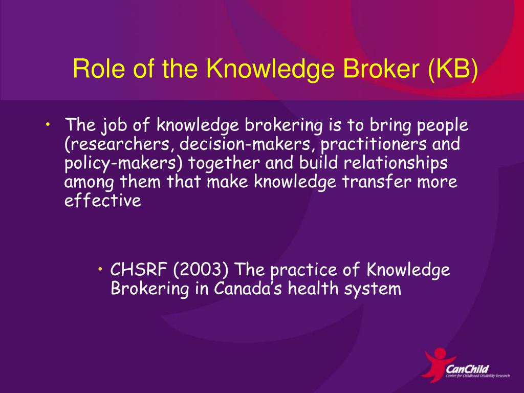 Role of the Knowledge Broker (KB)