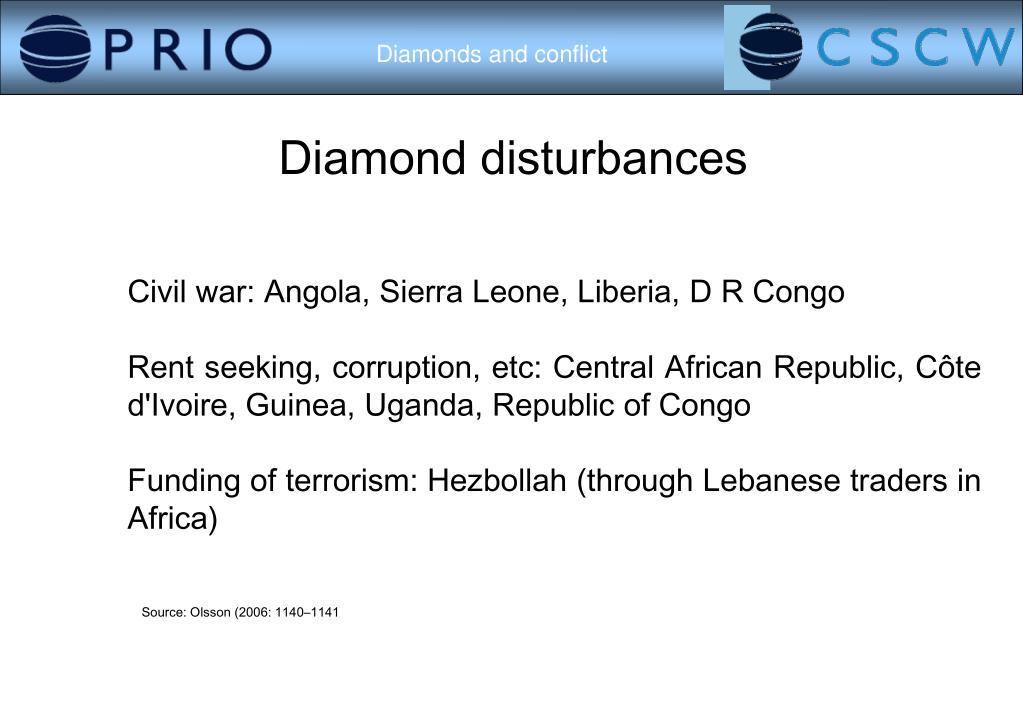 Diamond disturbances