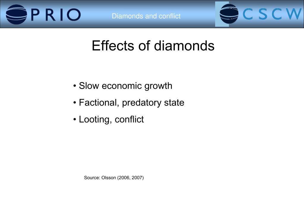 Effects of diamonds