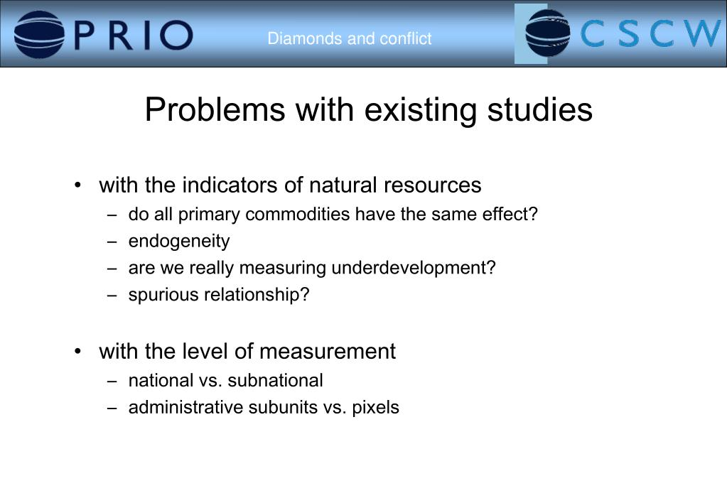 Problems with existing studies
