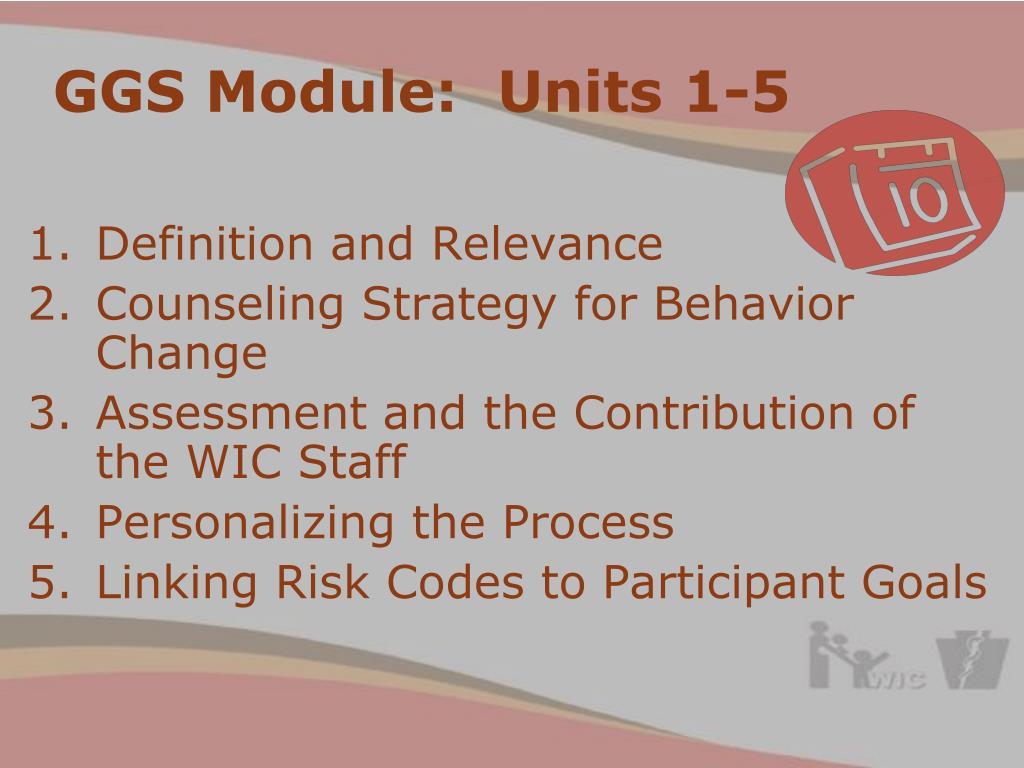 GGS Module:  Units 1-5