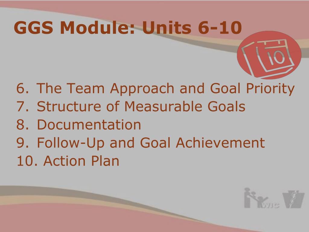 GGS Module: Units 6-10