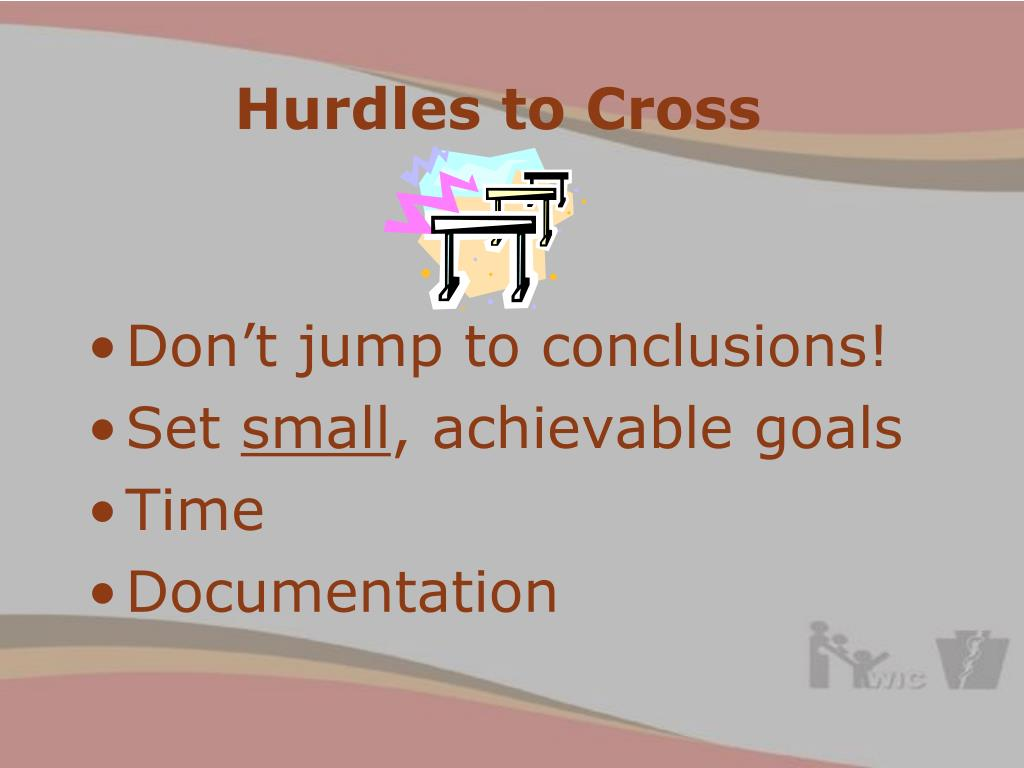 Hurdles to Cross