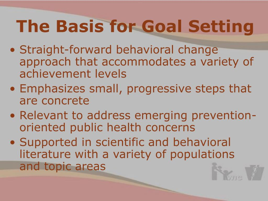 The Basis for Goal Setting