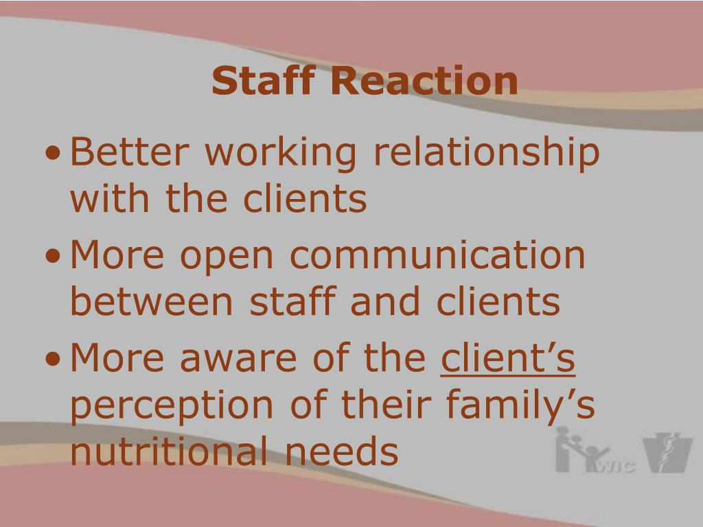 Staff Reaction