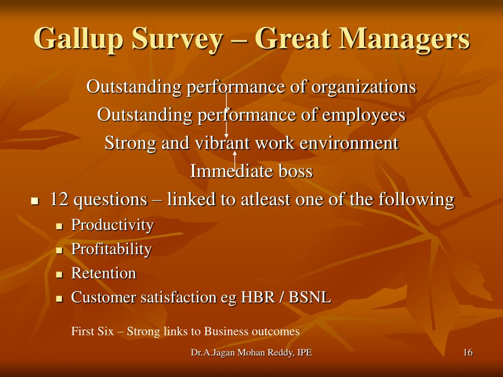 Gallup Survey – Great Managers