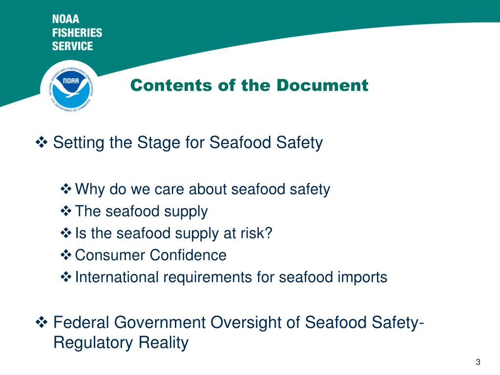 Setting the Stage for Seafood Safety