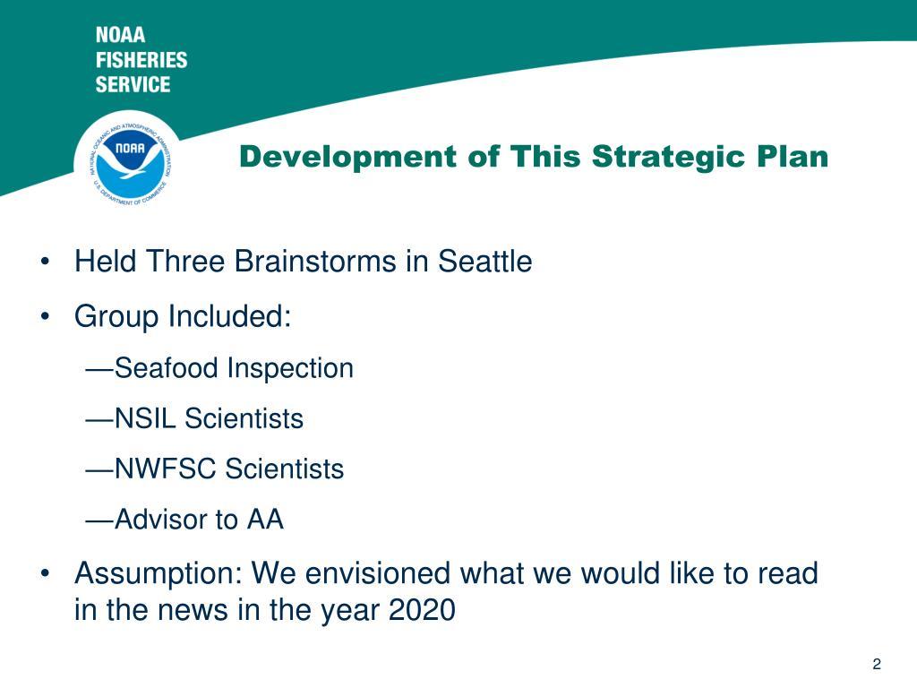 Development of This Strategic Plan