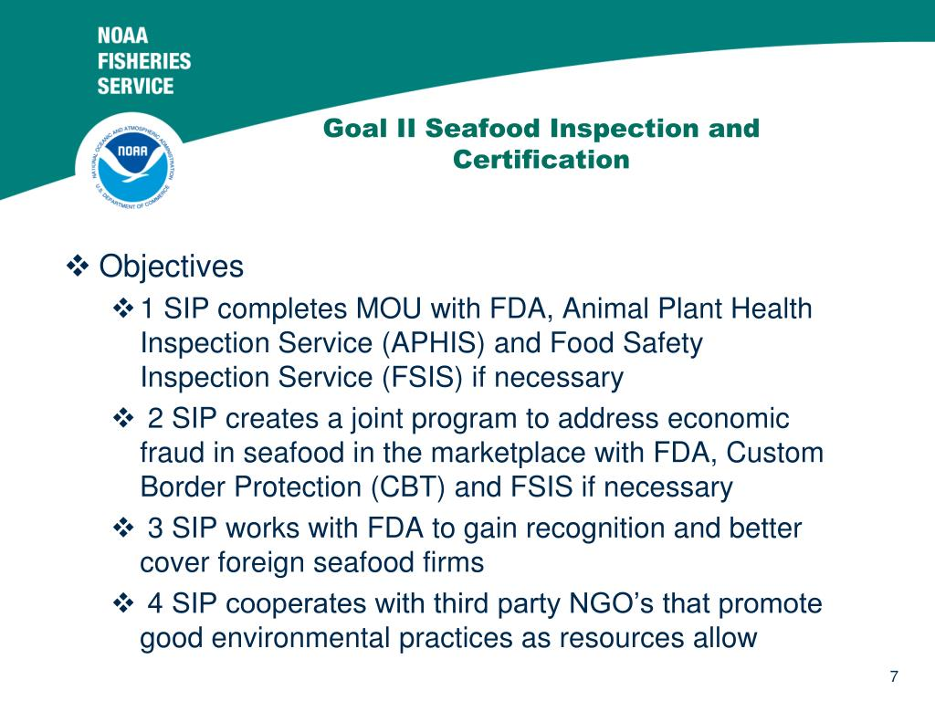 Goal II Seafood Inspection and Certification