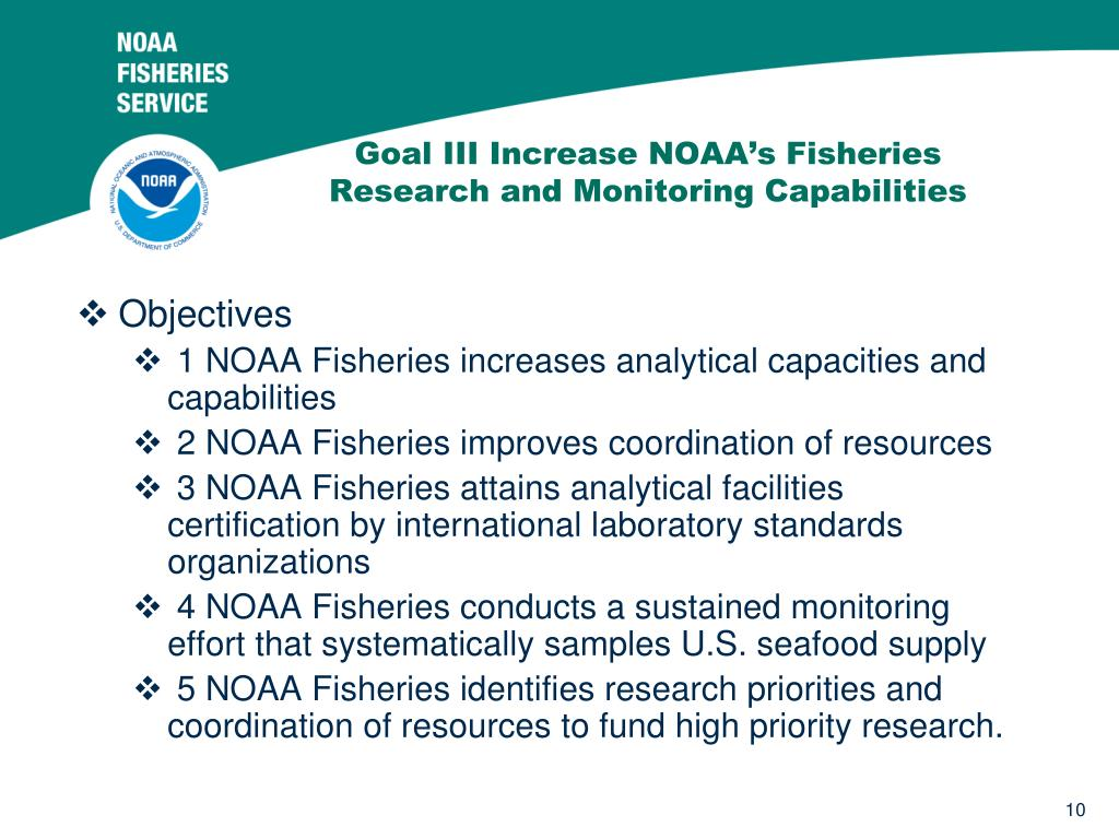 Goal III Increase NOAA's Fisheries Research and Monitoring Capabilities