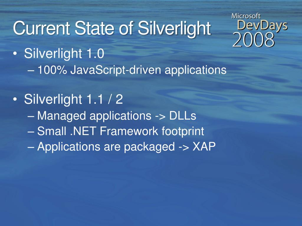 Current State of Silverlight