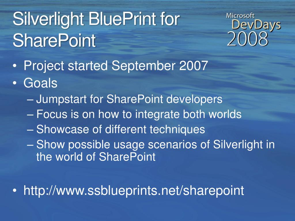 Silverlight BluePrint for