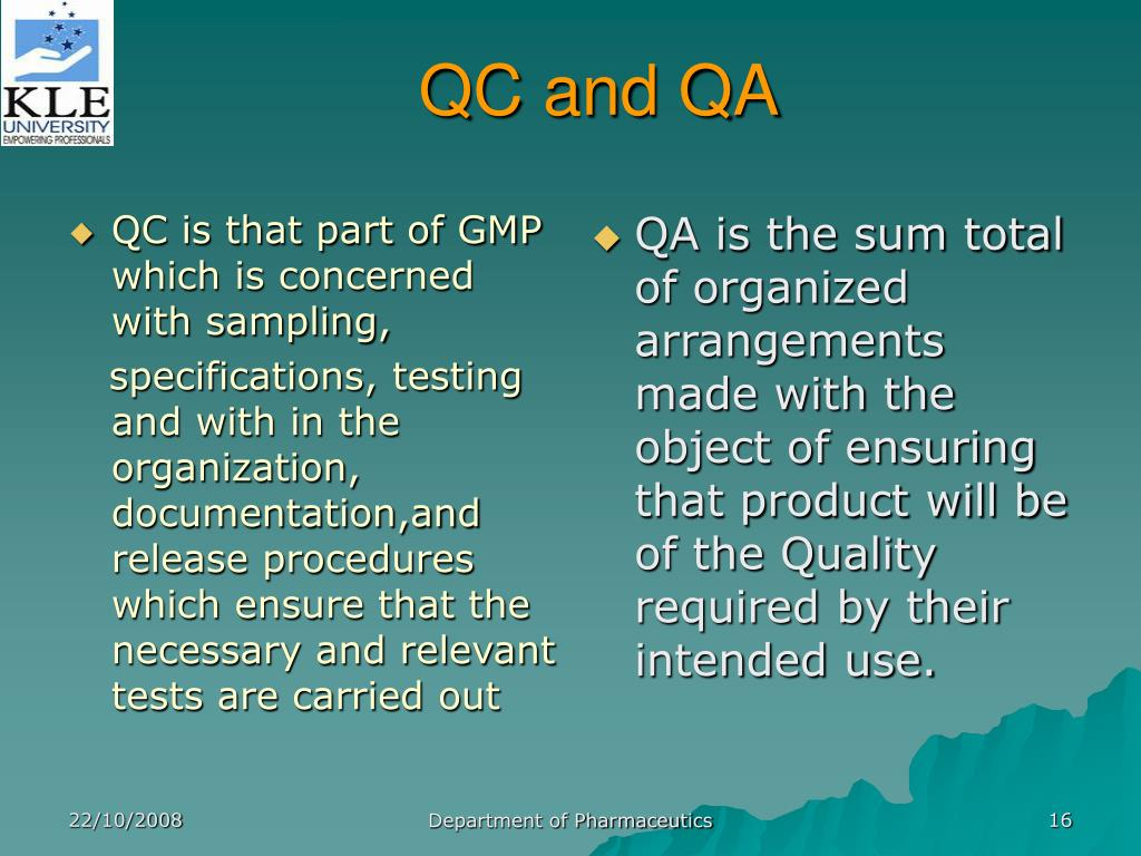 cgmp guidelines according to schedule m ppt