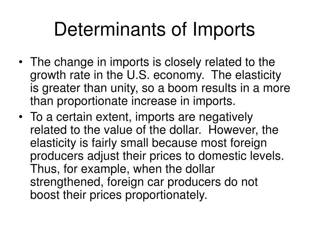 Determinants of Imports