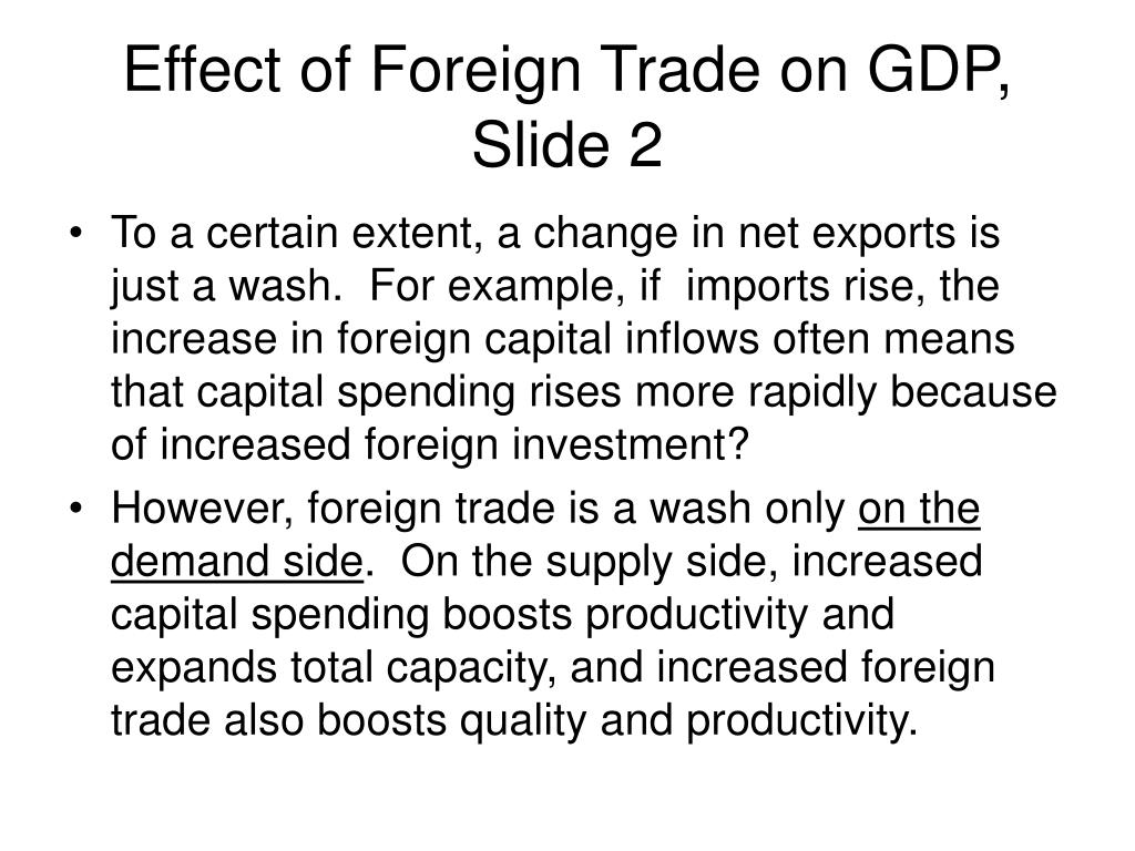 Effect of Foreign Trade on GDP, Slide 2