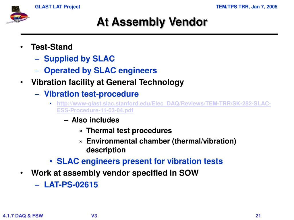 At Assembly Vendor