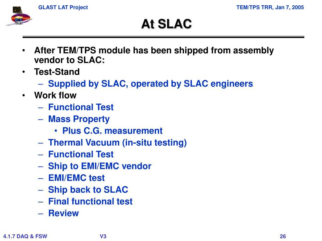 At SLAC