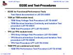 egse and test procedures