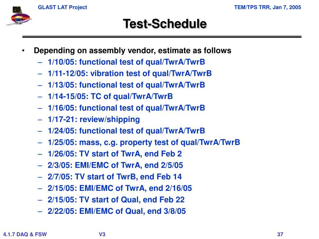 Test-Schedule