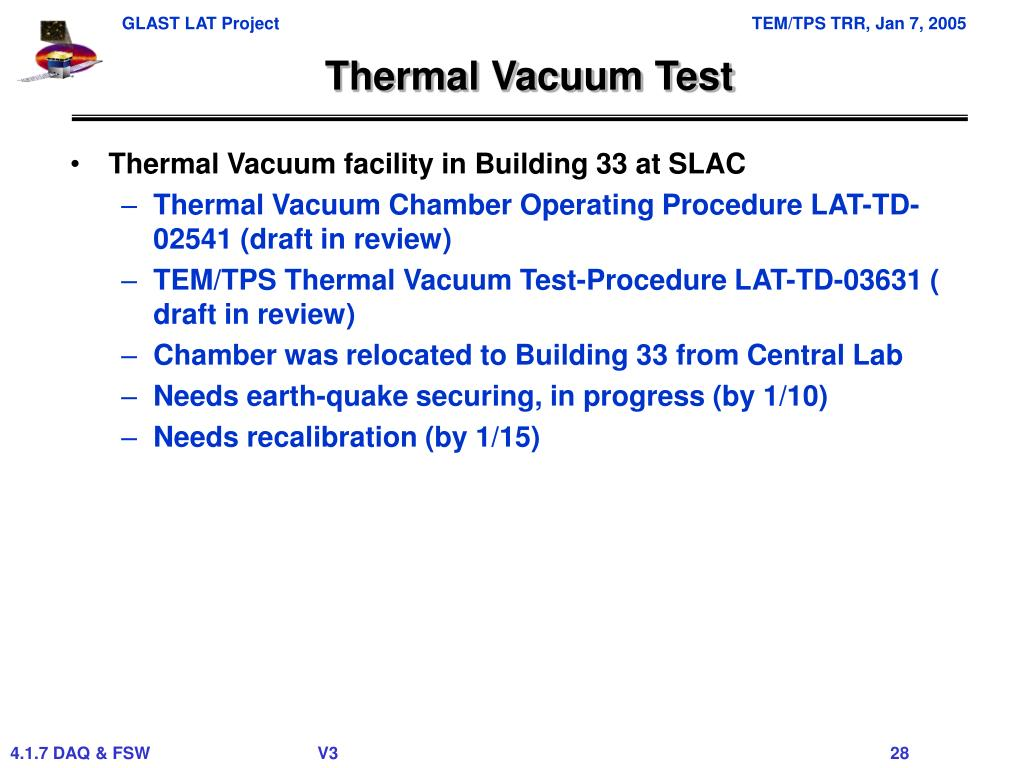 Thermal Vacuum Test
