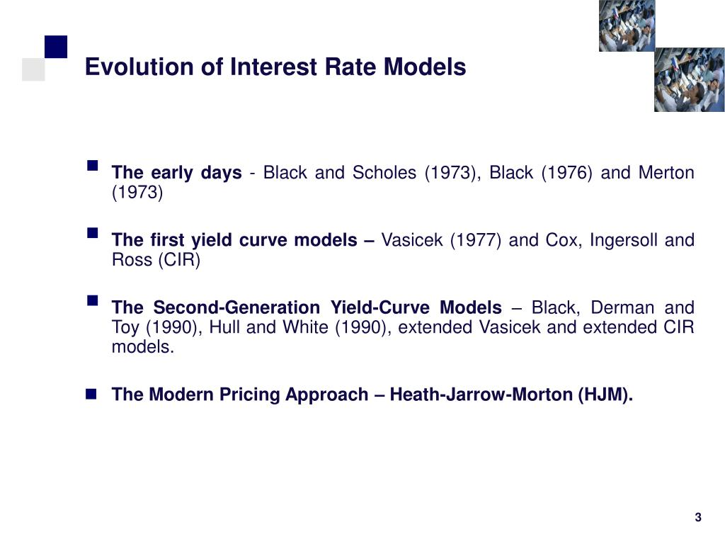 Evolution of Interest Rate Models