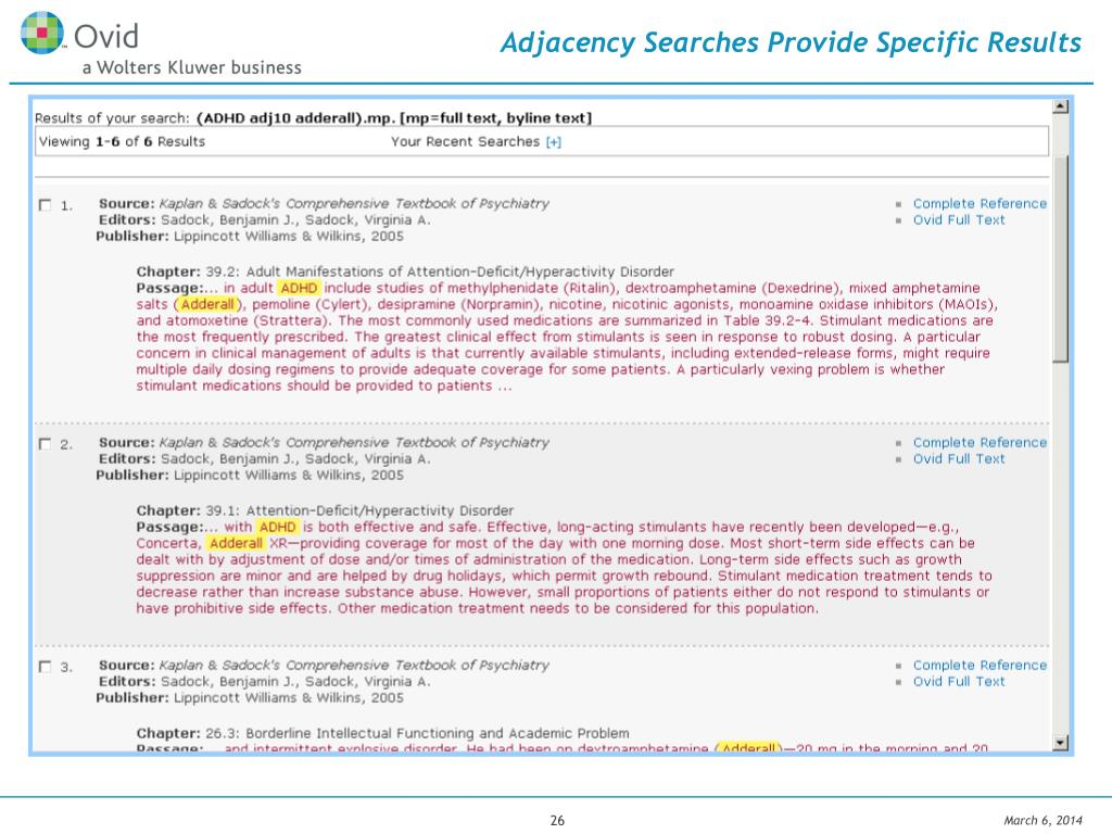 Adjacency Searches Provide Specific Results