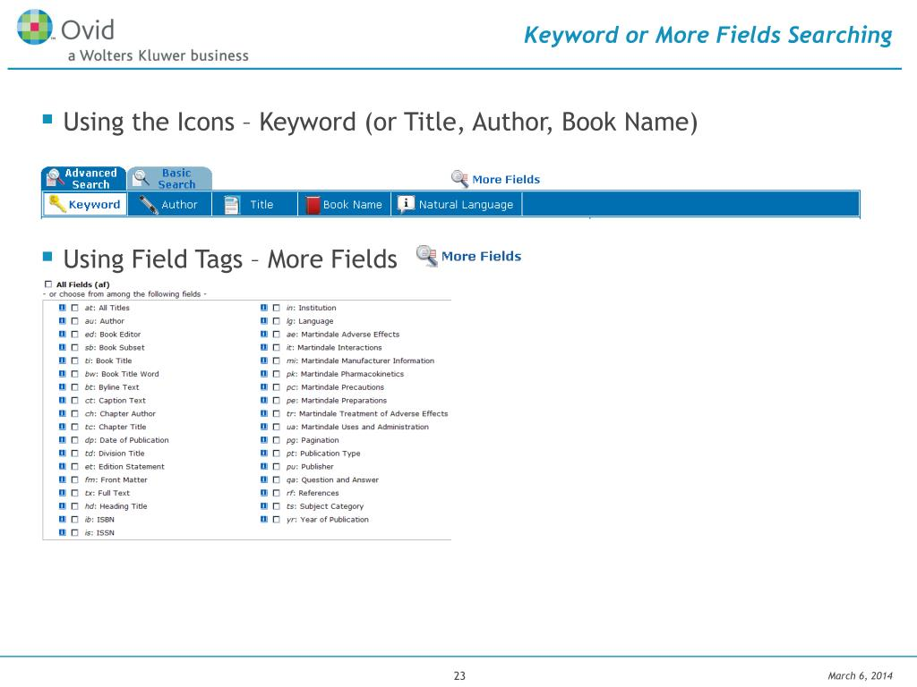 Keyword or More Fields Searching