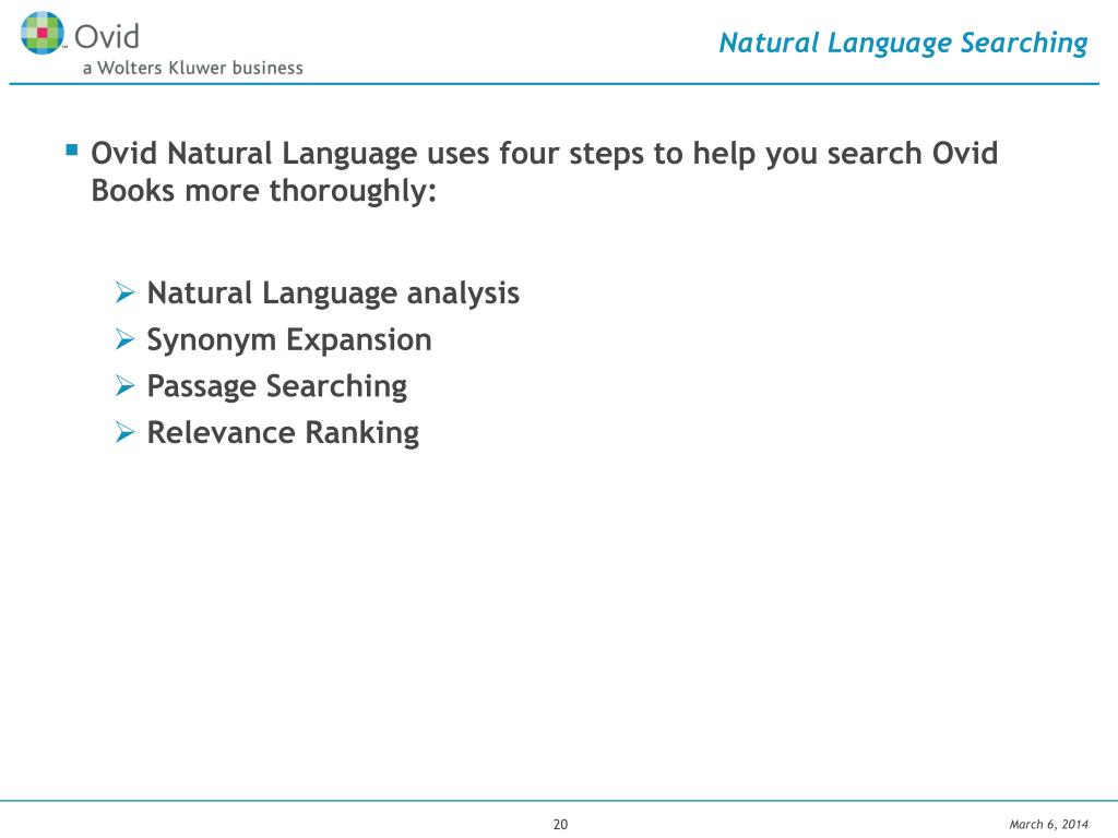 Natural Language Searching