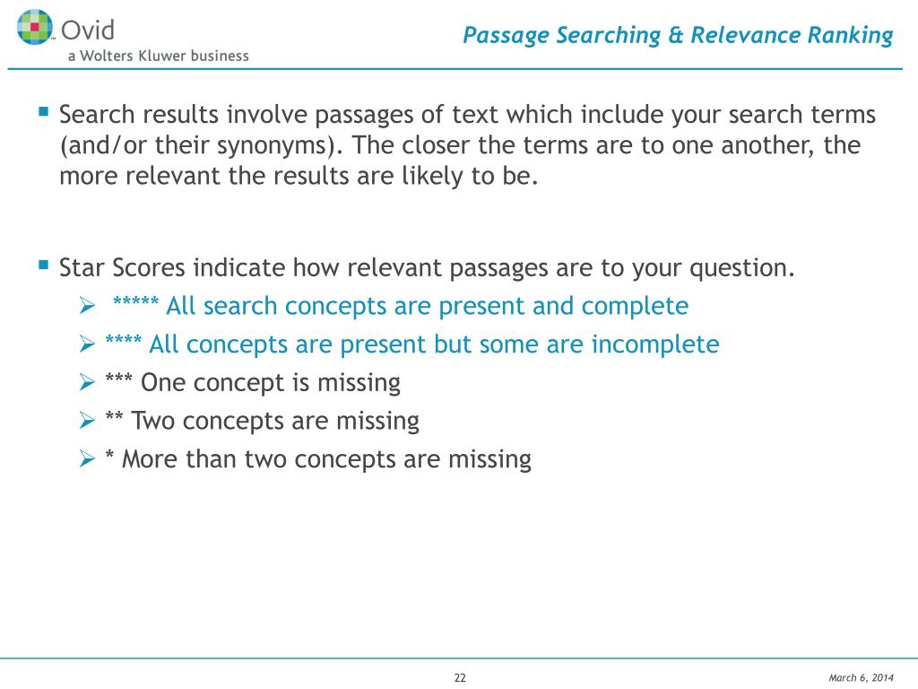 Passage Searching & Relevance Ranking