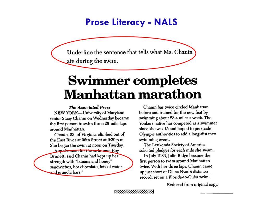 Prose Literacy - NALS