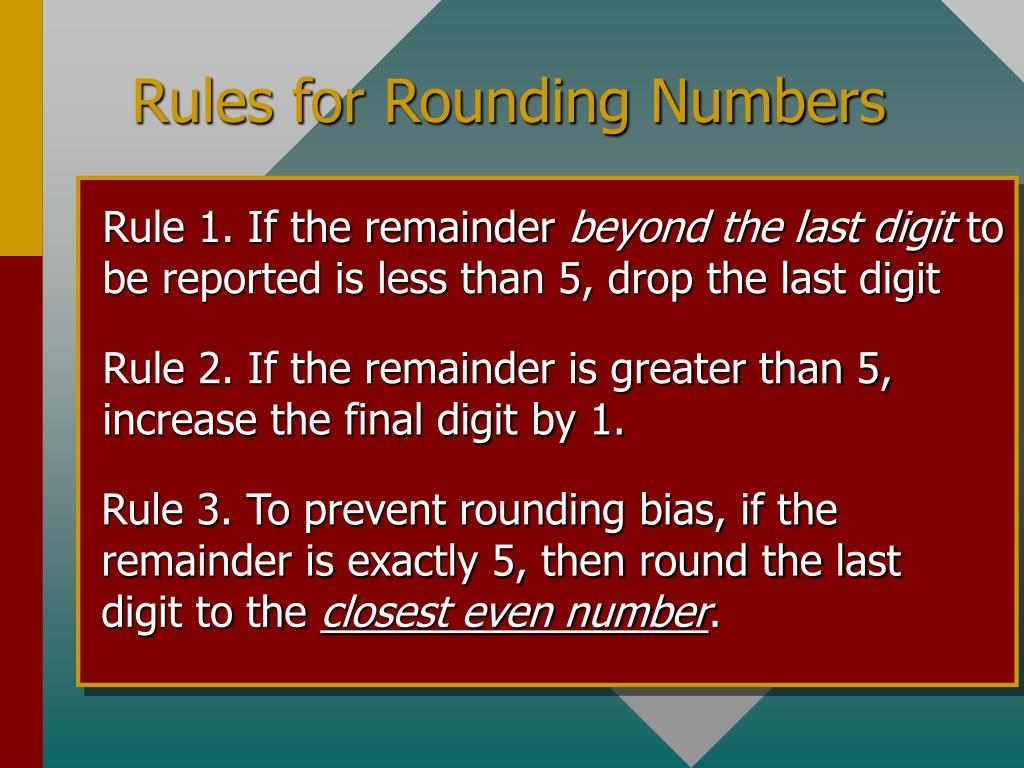 Rule 1. If the remainder