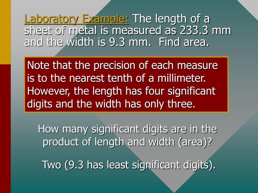 Laboratory Example: