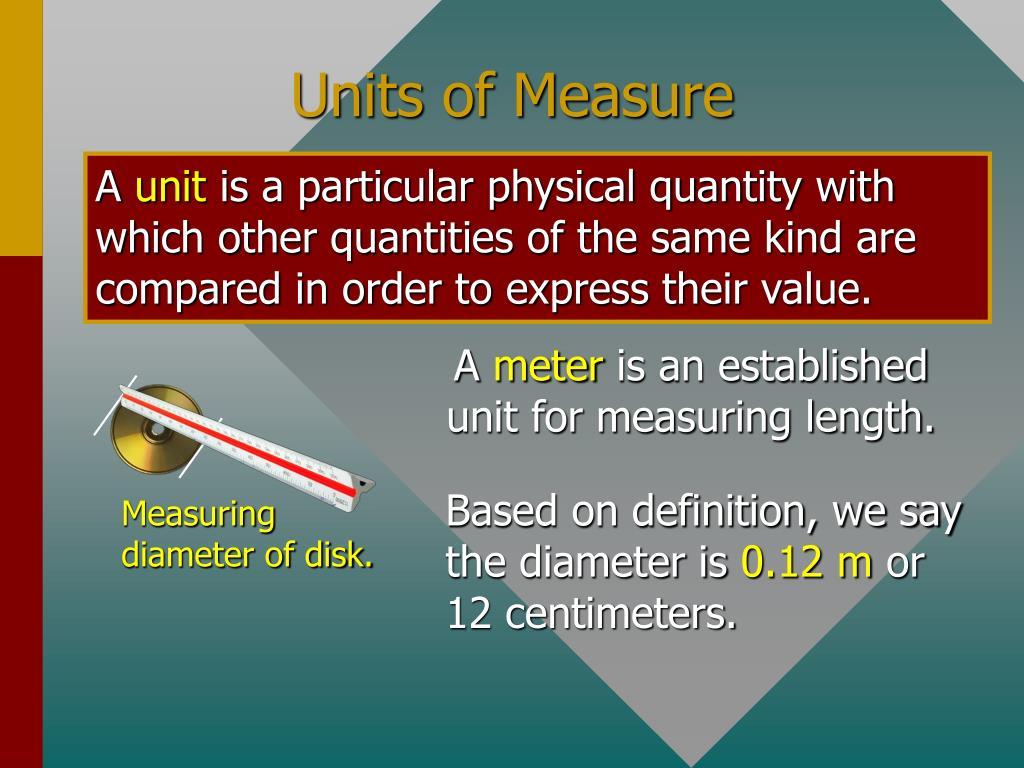Measuring diameter of disk.