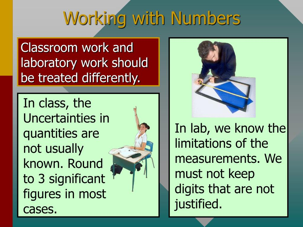 Classroom work and laboratory work should be treated differently.
