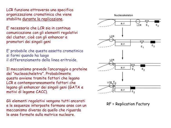 LCR funziona attraverso una specifica