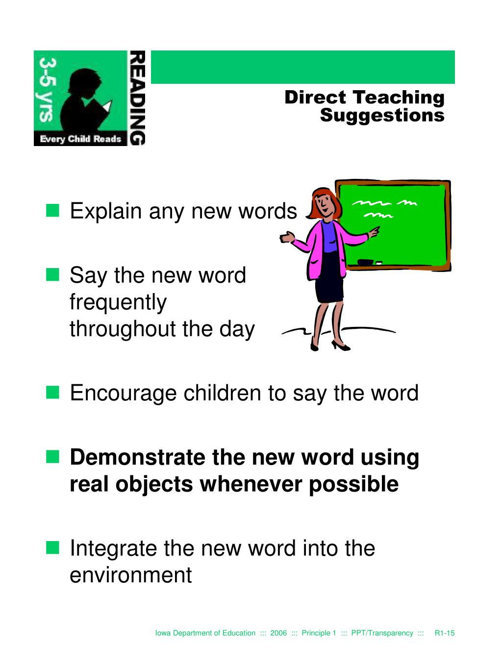 Direct Teaching Suggestions
