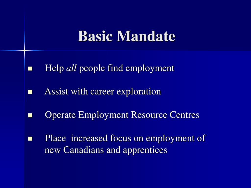Basic Mandate