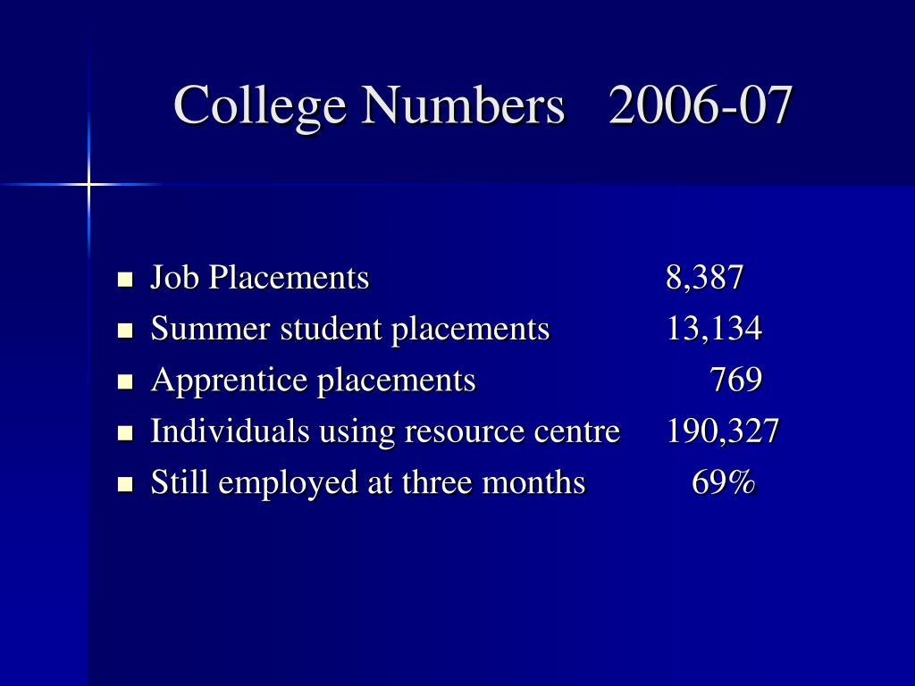 College Numbers   2006-07